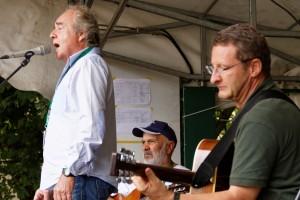 Ballade avec Brassens, à Rennes en septembre 2014, avec Gilles et Loïc