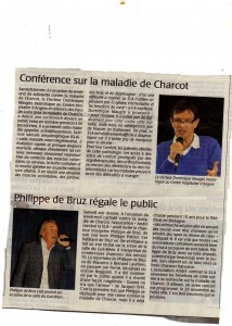 Article Courrier de l'Ouest 8.09.2015