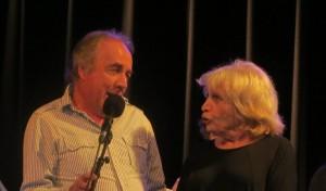 Francesca SOLLEVILLE et Philippe POIRIER en duo à la fin du concert.