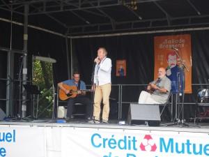 Ballade avec Brassens, à Rennes en septembre 2016, accompagné par Gilles et Loïc